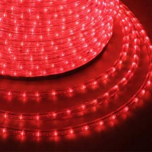 LED ULTRALIGHT 2-х жил. 36 led/m, 2.5W круг. красный NS236R Провод светящ.