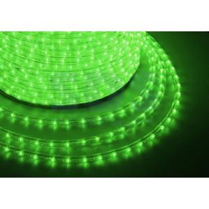 LED ULTRALIGHT 2-х жил. 36 led/m, 2.5W круг. зелёный NS236R Провод светящ.