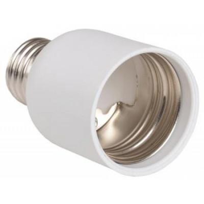 Описание, характеристики, отзывы о   Переходник Е27-Е40 пластик белый индив.пакет ПР27-40-К02 ИЭК, купить в магазине  или  заказать  онлайн