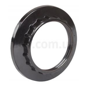 Кольцо к патрону пластик Е27 черный индив.пакет ИЭК