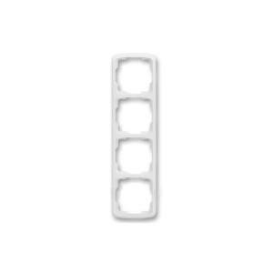 Рамка 4кр. белая вертикальная ABB Танго