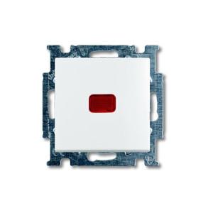 Выключатель 1кл. проходной с подсв. белый ABB BASIC 55