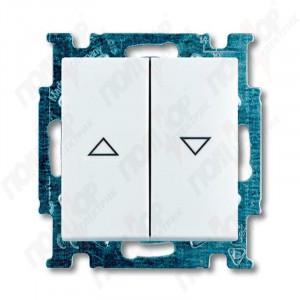 "Выключатель ""жалюзи"" с фикс. белый ABB BASIC 55"