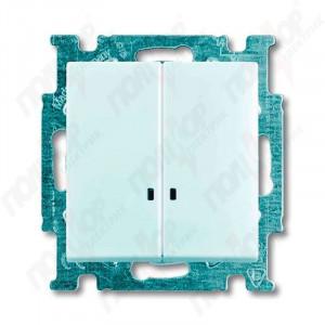 Выключатель 2-кл.с подсв. Basic 55 белый АВВ