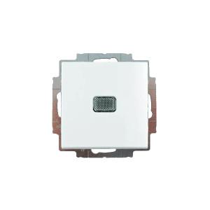Выключатель 1кл. белый с подсветкой ABB BASIC 55