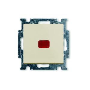 Выключатель 1кл. проходной с подсв. слоновая кость ABB BASIC 55