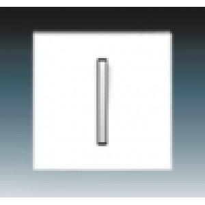 Клавиша 1кл. NEO белый/бело-ледяной ABB