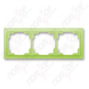 Рамка 3 кр. NEO зелено-ледяной ABB