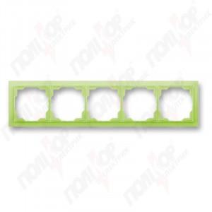 Рамка 5 кр. NEO зелено-ледяной ABB