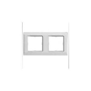 Рамка 2-кратная белая OPTIMA