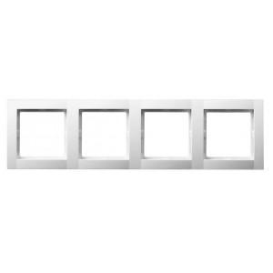 Рамка 4-кратная белая OPTIMA