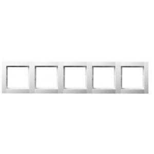 Рамка 5-кратная белая OPTIMA