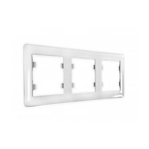 Рамка 3 кратная белая, Lumina2