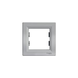 Рамка 1-местная  EPH5800161 ASFOR Aалюминий Schneider Electric