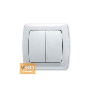 Выключатель 2-кл. 90561002 VI-KO CARMEN белый