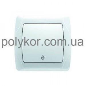 Выключатель 1-кл. прох. 90561004 VI-KO CARMEN белый