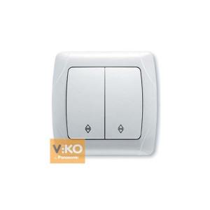 Выключатель 2-кл. прох. 90561017 VI-KO CARMEN белый