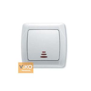 Выключатель 1-кл. с подсв. 90561019 VI-KO CARMEN белый