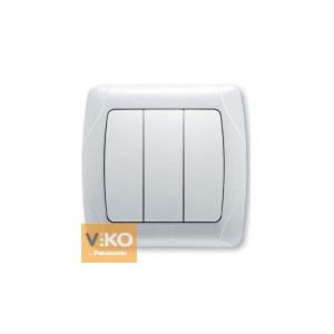 Выключатель 3-кл. 90561068 VI-KO CARMEN белый