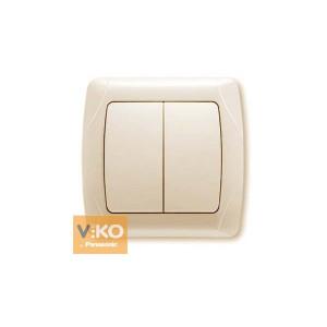 Выключатель 2-кл. 90562002 VI-KO CARMEN крем