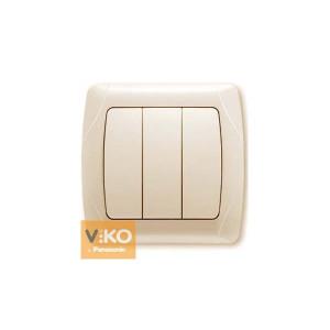 Выключатель 3-кл. 90562068 VI-KO CARMEN крем