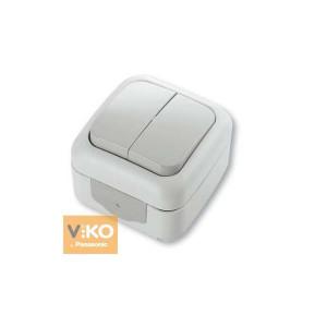 Выключатель 2-кл. наружной установки 90555402 VI-KO IP54 БЕЛЫЙ