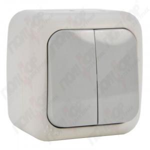Выключатель 2-кл. наружной установки 90555502 VI-KO IP54 серый