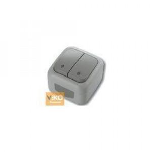 Выключатель 2-кл. проходной наружной установки 90555717 VI-KO IP54 СЕРЫЙ
