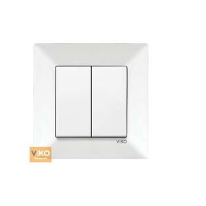 Выключатель 2-кл. 90970002-WH VI-KO Meridian белый