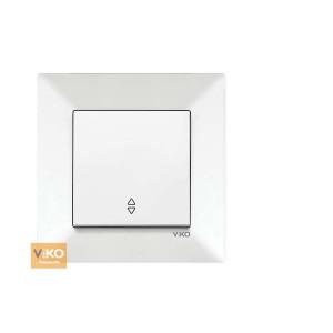 Выключатель 1-кл. проходной  90970004-WH VI-KO Meridian белый