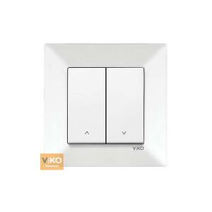 Выключатель 2-кл. проходной  90970017-WH VI-KO Meridian белый