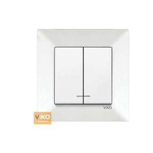 Выключатель 2-кл. с подсвет. 90970050-WH VI-KO Meridian белый
