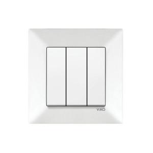 Выключатель 3-кл. 90970068-WH VI-KO Meridian белый