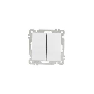 Вимикач  2-кл. 2100-002-0101 білий GES