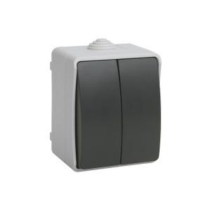 """Выключатель 2-кл. ВС20-2-0-ФСр  для наружной установки IP54 серия """"ФОРС"""" ИЕК"""