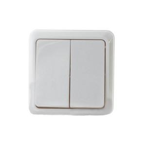 Выключатель 2-кл. BЗ10-2-0-Сb-W (белый)  АСКО