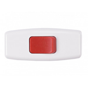 Вимикач для бра Luxel 1207 білий з червоною кнопкою ( )