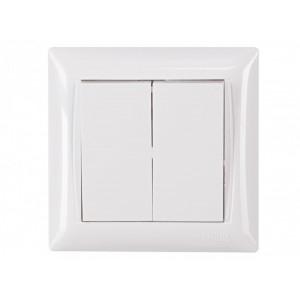 Выключатель 2-кл. Luxel Primera 3003 белый