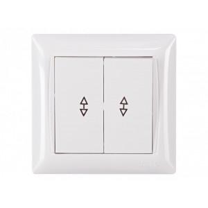 Выключатель 2-кл. прох. Luxel Primera 3019 белый