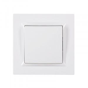 Выключатель 1-кл. LUXEL JAZZ белый 9002