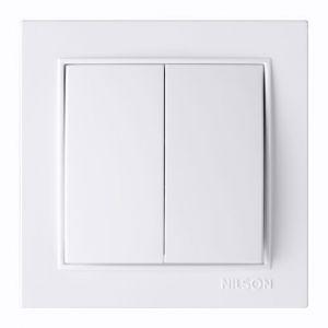 Выключатель 2кл. 27111003 Nilson Thor білий ( )