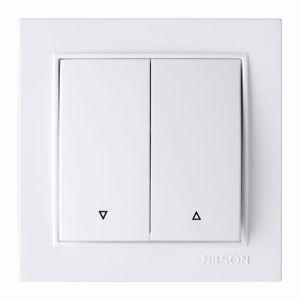 Выключатель 2кл. проходной 27111009 Nilson Thor білий ( )