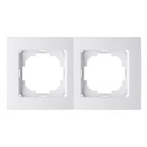 Рамка 2М универсальная 24110092 Nilson Touran белый (20шт/уп)