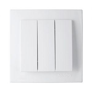 Выключатель 3кл. 24111066 Nilson Touran белый (12 шт/уп)