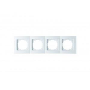 Рамка 4М универсальная 24110094 Nilson Touran белый (12шт/уп)