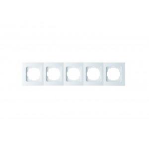 Рамка 5М универсальная 24110095 Nilson Touran белый (10шт/уп)
