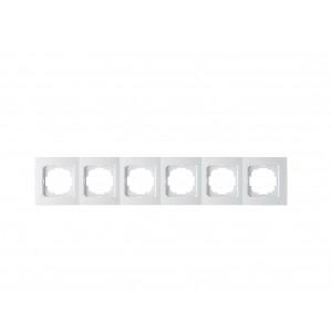 Рамка 6М универсальная 24110096 Nilson Touran белый (10шт/уп)