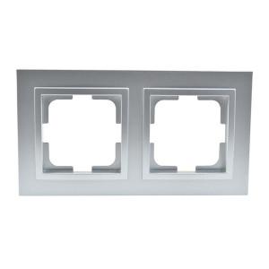 Рамка 2-а Mono Electric DESPIN срібло