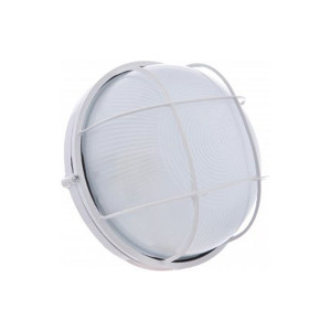 Светильник MAGNUM MIF 012  IP44 60W круг белый с решеткой