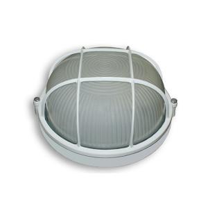 Світильник 100W круг білий з решіткою SL-1251